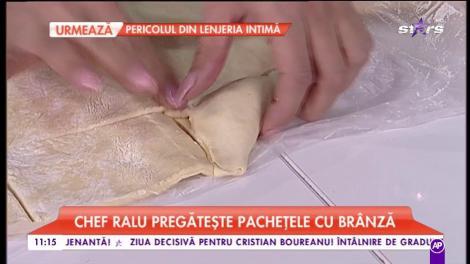 Chef Raluca gătește pachețele cu brânză. O rețetă rapidă și delicioasă