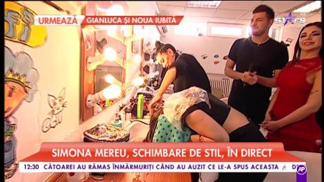 Simona Mereu, schimbare de stil, în direct