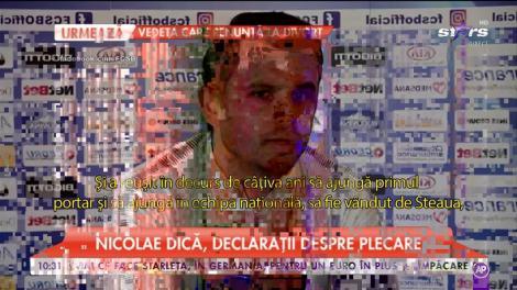 """Nicolae Dică, declarații despre plecare: """"Am pierdut un jucător foarte important pentru echipă"""""""