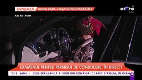 Atenție, șoferi! Saveta Bogdan, pentru prima dată la volan