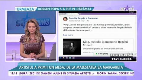 Tavi Clonda, felicitat de Casa Regală a României