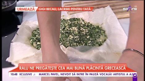 Ralu pregătește cea mai bună plăcintă grecească