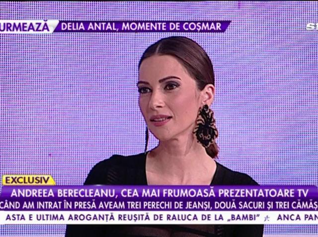 """Andreea Berecleanu: """"Când am intrat în presă aveam trei perechi de jeanși, două sacouri și trei cămăși"""""""