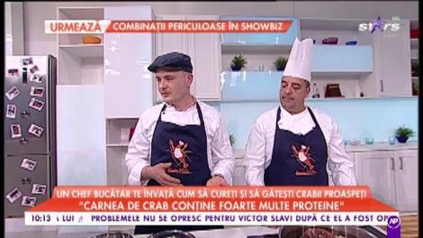 """Chef bucătar ne învață cum să curătăm și șă gătim crabii proaspeți: """"Carnea de crab conține foarte multe proteine"""""""