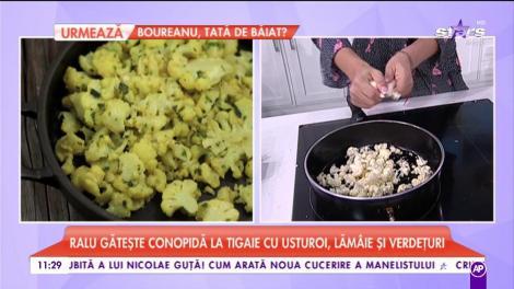 Cum se pregătește cea mai tare rețetă de conopidă la tigaie cu usturoi, lămâie și verdețuri! Deliciul e gata instant!