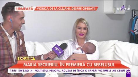 Maria Secrieriu, în premiera cu bebelușul. Vedeta face o declarație emoționantă pentru mama sa