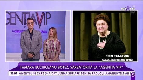"""Tamara Buciuceanu Botez, sărbătorită la """"Agenția VIP"""""""