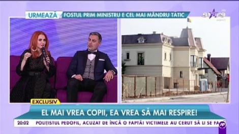 """Alina Sorescu și Alex Ciucu, negocieri la """"sânge"""". El mai vrea copii, ea vrea să mai respire!"""