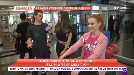 Alina Sorescu, în sala de sport! Metoda la care a apelat vedeta să se mențină în formă