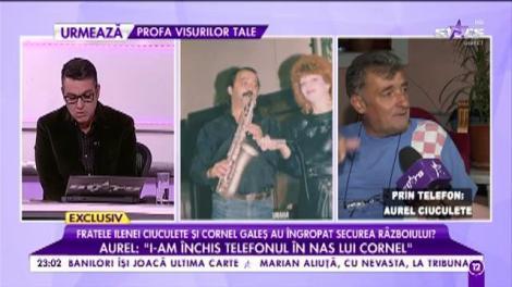 Momentul adevărului a sosit! Fratele Ilenei Ciuculete și Cornel Galeș au îngropat securea rozboiului?