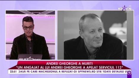 Care este cauza morții lui Andrei Gheorghe