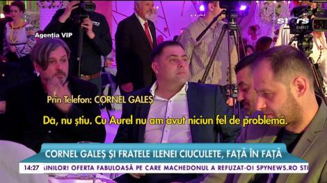 Cornel Galeș și fratele Ilenei Ciuculete, față în față. Au făcut pace la un an de la moartea artistei