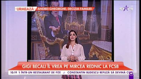 Gigi Becali îl vrea pe Mirecea Rednic la FCSB