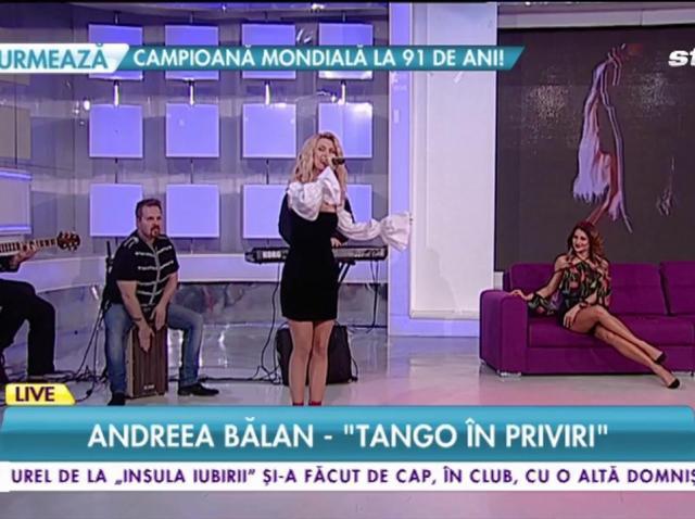 """LIVE! Andreea Bălan - """"Tango în priviri""""! Jurata de la """"Ie, Românie"""" arată extraordinar, iar noua piesă va fi hitul primăverii!"""
