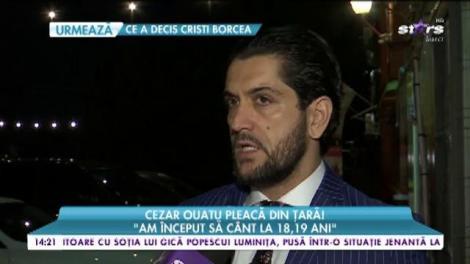 """Cezar Ouatu pleacă din țară! """"Trebuie să îmi fac o familie"""""""