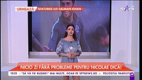 Nicolae Dică, tras de urechi de Gigi Becali