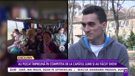 """Marian și Corina Drăgulescu, cuplul cu cele mai multe certuri de la """"Asia Express""""! Cei doi au făcut show"""