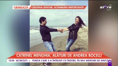 Catrinel Menghia, alături de Andrea Bocelli