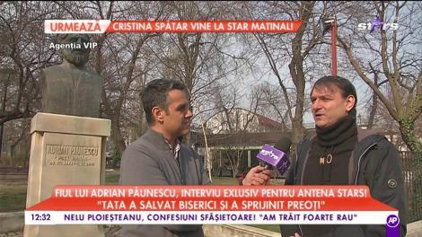 """Fiul lui Adrian Păunescu, interviu exclusiv pentru Antena Stars: """"Tata era un ortodox practicant ostentativ"""""""
