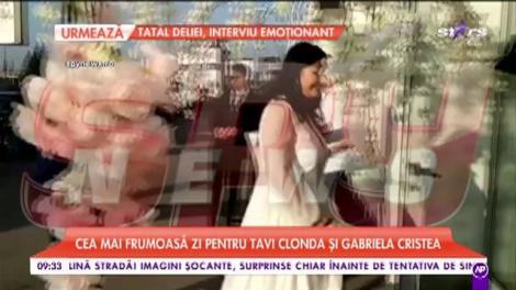 Cea mai frumoasă zi pentru Tavi Clonda și Gabriela Cristea. Petrecere cu zeci de invitați pentru micuța Victoria