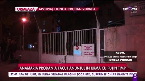 Informații de ultimă oră despre moartea Ionelei Prodan
