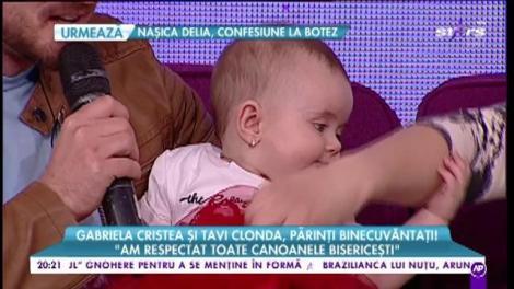 """Gabriela Cristea și Tavi Clonda, botez de lux pentru micuța Victoria: """"Am respectat toate canoanele bisericești"""""""