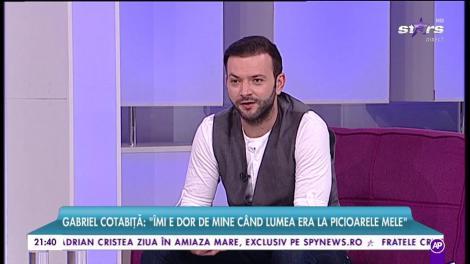 """De cine îi este dor lui Gabriel Cotabiță: """"Îmi e dor de mine când lume era la picioarele mele"""""""