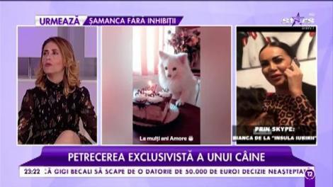 """Petrecerea exclusivistă a unui câine. Bianca de la """"Insula iubirii"""" și-a sărbătorit patrupedul"""