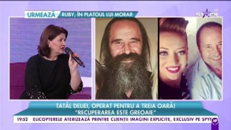 """Momente grele pentru Delia! Tatăl artistei, operat pentru a treia oară! Gina Matache: """"Avea o tumoare destul de urâtă!"""""""