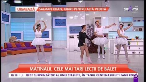 Matinalii, cele mai tari lecții de balet. Ce trebuie să știi când te apuci să practici dans artistic figurativ