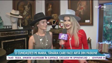 Maria, cel mai tânăr pălărier din România