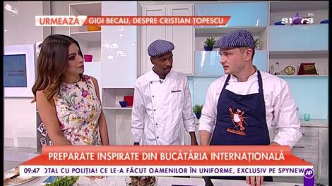 Chef Răzvan pregătește rețete inspirate din bucătăria internațională