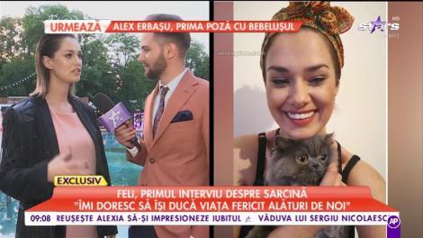 """Feli, primul interviu despre sarcină! Jurata """"The Four - Cei patru"""" a vorbit deschis despre cea mai frumoasă perioadă din viaţa ei: """"Îmi doresc să fie fericit alături de noi"""""""
