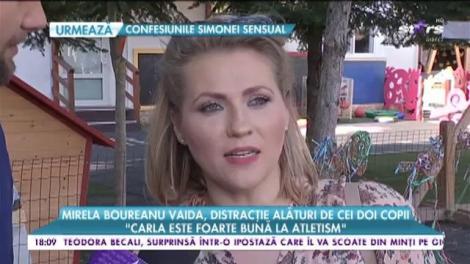"""Mirela Boureanu Vaida, distracție alături de cei doi copii: Carla este foarte bună la atletism"""""""