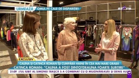 """Calina şi Catinca Roman fac shopping în cea mai mare grabă. Calina: """"Cineva mi-a spart contul de Instagram"""""""