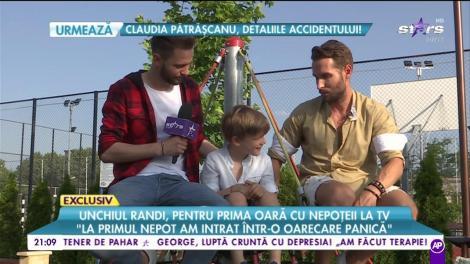 """Unchiul Randi, pentru prima oară cu nepoțeii la TV: """"Imi doream demult copii"""""""
