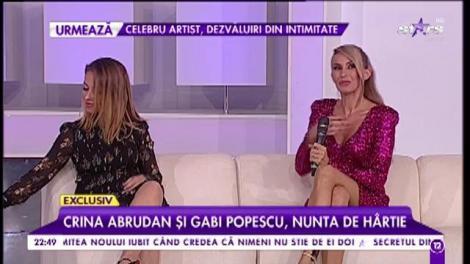 Crina Abrudan și Gabi Popescu, nunta de hârtie