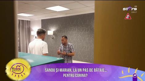 Război total! Sandu și Marian, la un pas de bătaie pentru Corina?