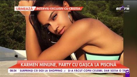 Karmen Minune, party cu gașca la piscină