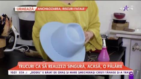 """Pălăria care se realizează cu foc: """"Aceasta este cerută mai mult de tineri pentru că ei sunt mai îndrăzneți"""""""
