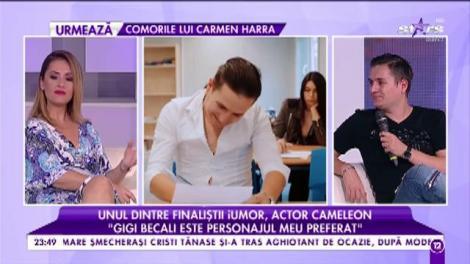 George Tănase, unul dintre finaliștii iUmor, face show în platoul Agenția VIP