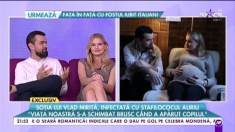 """Soția lui Vlad Miriță, infectată cu stafilococul auriu: """"A trebuit să întrerup lactația"""""""