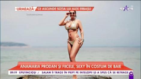 Imagini incendiare! Anamaria Prodan și fiicele, sexy în costume de baie