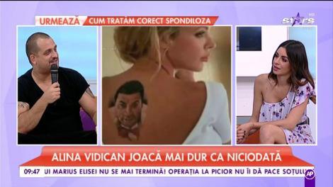 Alina Vidican nu mai vrea să-și mai scoată tatuajele cu Cristi Borcea