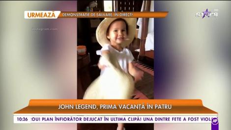 John Legend, prima vacanță în patru
