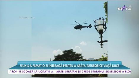 Iubitul Mihaelei Rădulescu călătoreşte cu elicopterul dintr-o ţara în alta doar pentru a lua prânzul cu prietenii!
