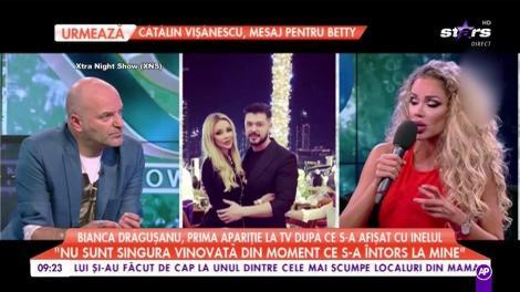 Bianca Drăguşanu, prima apariţie la TV după ce s-a afişat cu inelul pe deget!