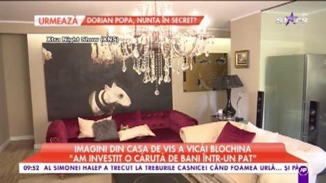 """Imagini din casa de vis a Vicăi Blochina: """"Mi-am dorit să fac o renovare a casei în care locuiesc"""""""
