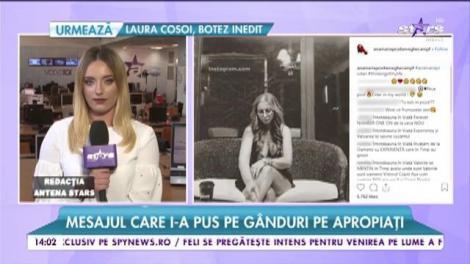 Anamaria Prodan a decis să își pună ordine în viață. Mesajul ei i-a pus pe gânduri pe apropiați