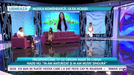 """Povestea de viață a lui Nadd Hu, frumoasa prezentatoarea de la ZU: """"Mama e româncă, tata e chinez"""""""